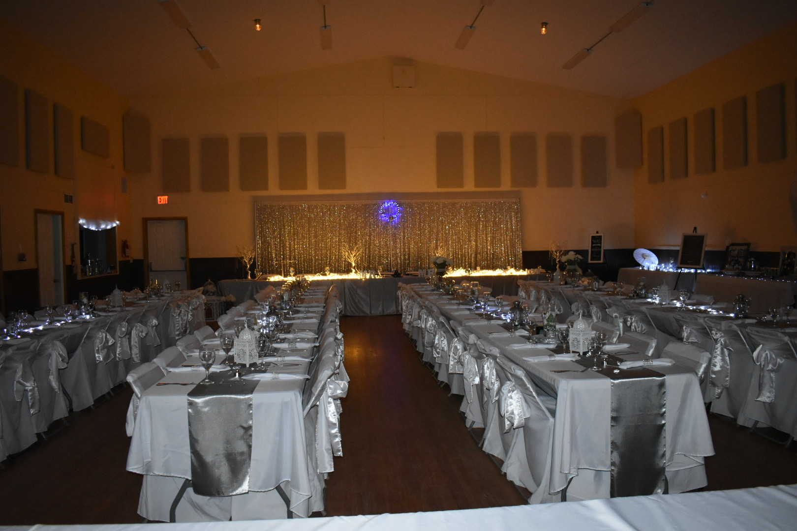 Hall interior decorated for wedding