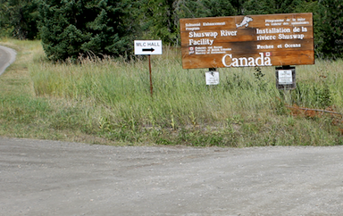Signs on Shuswap Falls Rd